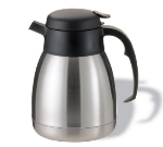 Service Ideas FVP12 1.2-liter Carafe w/ Unbreakable Liner, Stainless, Black Finish