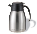 Service Ideas FVP15 1.5-liter Carafe w/ Unbreakable Liner, Stainless, Black Lid