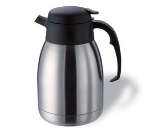 Service Ideas FVPB12 1.2-liter Carafe w/ Brew Thru Lid, Stainless, Black Finish