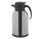 Service Ideas H100CH 1-liter Modern Coffee Server w/ Glass Liner, Mirrored Black