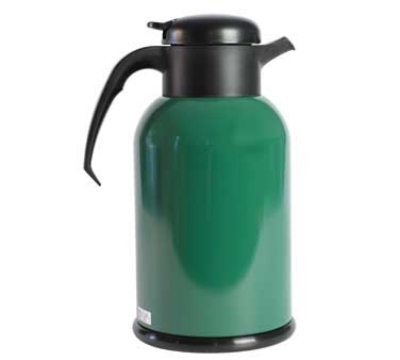 Service Ideas H100FG 1-liter Modern Coffee Server w/ Glass Liner, Green & Black