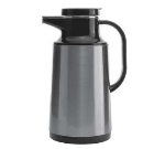 Service Ideas HPS101 1-liter Coffee Server w/ Stainless Shell, Brushed Stainless, Black