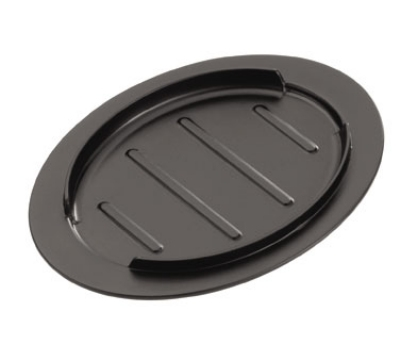 Service Ideas HS13BL2 13-in Insulated Skillet Holder w/ Side Rails, Rolled Edge, Black