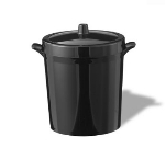 Service Ideas IB3BL 3-liter Ice Bucket w/ Double-Wall Insulation, Black