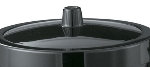 Service Ideas IBL3BL Ice Bucket Lid For IB3, Black