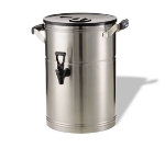 Service Ideas IT3GPL 3-Gallon Tea Urn w/ Staggered Rubber Grip Handles, Stainless