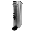 Service Ideas ITSL5GPL 5-Gallon Slim-Design Tea Urn w/ Rubber Grip Handles, Stainless