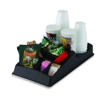Service Ideas KK9 Condiment Caddy w/ 9-Compartments, Plastic, Black
