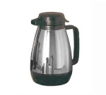 Service Ideas ML501CH/BL .6-liter Coffee Server w/ Push Button Lid, Chrome & Black