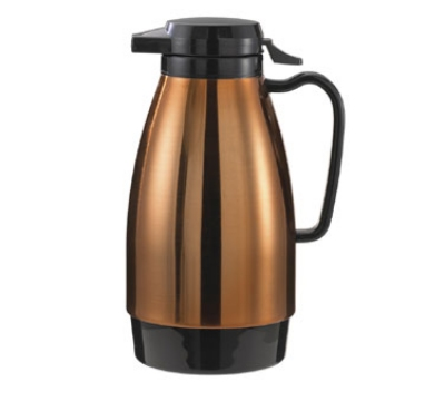 Service Ideas ML501MCPBL .6-liter Coffee Server w/ Push Button Lid, Copper & Black