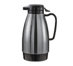 Service Ideas ML501MSSBL .6-liter Coffee Server w/ Push Button Lid, Stainless & Black
