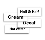 "Service Ideas MT1HW ID Magnet Tag, 1.25 x 3.5"", Hot Water"