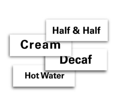 Service Ideas MT1HW ID Magnet Tag, 1.25 x 3.5-in, Hot Water