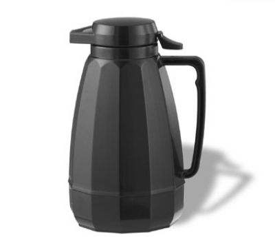 Service Ideas NG101BL 1-liter Coffee Server w/ Push Button Lid, Black