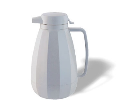 Service Ideas NG101WH 1-liter Coffee Server w/ Push Button Lid, White
