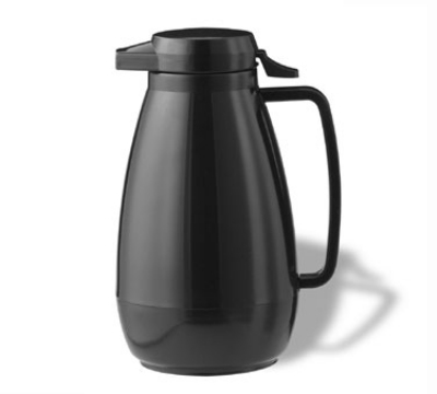 Service Ideas PB501BL .6-liter Coffee Server w/ Push-Button Lid, Smooth Body, Black