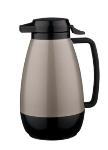 Service Ideas PB101MG 1-liter Coffee Server w/ Push-Button Lid, Metallic Gray