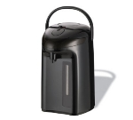 Service Ideas PNUA300 3-liter Glass-Lined Airpot w/ Easy View Content Level, Black