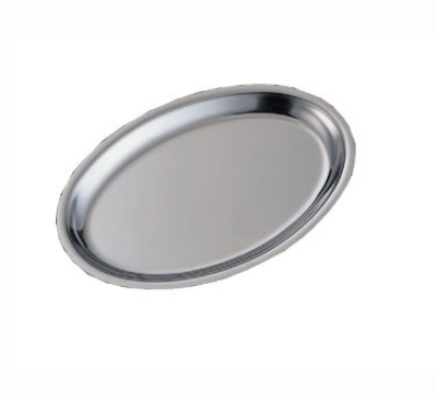 Service Ideas RO128SS Oval Platter Base For RO128 Platters, Stackable, Stainless