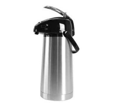 Service Ideas SAL30 3-liter Stainless-Lined Airpot w/ Lever Lid, Stainless Exterior