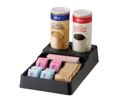 Service Ideas SC1090 Plastic Condiment Caddy w/ 6-Compartments, Black