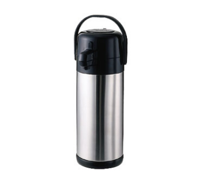 Service Ideas SECA30S 3-liter Airpot w/ Interchangeable Pump Lids, Stainless