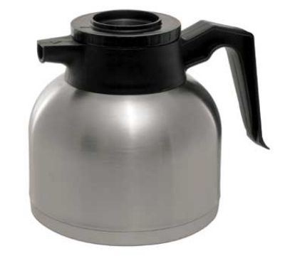 Service Ideas SHS19S Low-Profile 1.9-liter Brew & Pour Server w/ Black Lid, Stainless