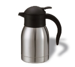 Service Ideas SJ20SS 2-liter Vacuum Carafe w/ Push Button Lid, Stainless