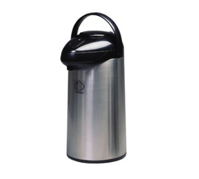 Service Ideas SSA300 3-liter Airpot w/ Interchangeable Pump Lid, Stainless & Black