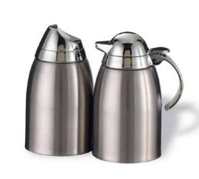 Service Ideas SSC85 8.5-oz Sugar & Creamer Set w/ Chrome-Plated Plastic Lid, Stainless