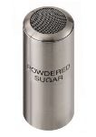 Service Ideas STCMESHPSUGR Condiment Shaker w/ Powdered Sugar Imprint, Stainless