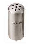 Service Ideas STCTEARCOCOA Condiment Shaker w/ Cocoa Imprint, Tear-Drop Top, Stainless