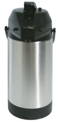 Service Ideas SVAP25L 2.5-liter Economy Airpot w/ Interchangeable Lever Lid, Stainless