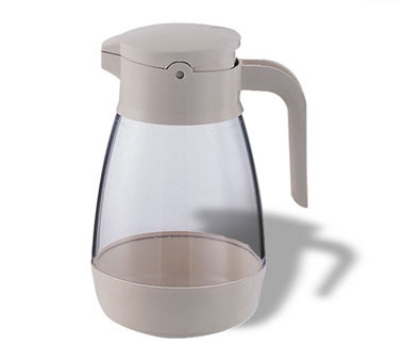 Service Ideas SY916AL 16-oz Dripless Syrup Dispenser w/ Locking Lid, Almond