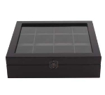 Service Ideas TB012 Tea Box w/ 12-Compartments, Beechwood