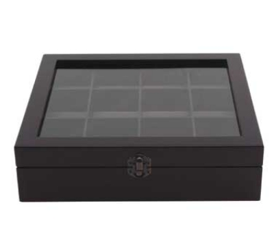 Service Ideas TB012 Tea Box w/ 12-Compartments, Beechwood