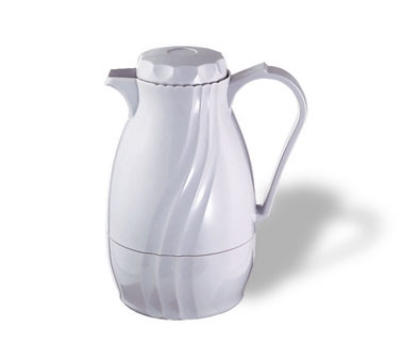 Service Ideas TNS60WH 2-liter Coffee Server w/ Twist-On Lid, Content Indicator, White
