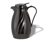 Service Ideas TNSPB40BL 1.2-liter Twist & Serv Coffee Server w/ Push Button Lid, Black