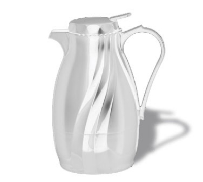 Service Ideas TNSPB20WH .6-liter Twist & Serv Coffee Server w/ Push Button Lid, White