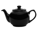 Service Ideas TPCE16BL 16-oz English-Style Teapot, Black Ceramic