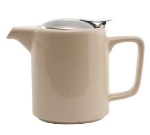 Service Ideas TPCW16CM 16-oz Washington-Style Teapot w/ Lid & Infuser Basket, Cream