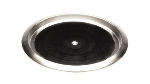 Service Ideas TR119SR 11-in Non-Slip Tray w/ Solid Rubber Insert, Stainless