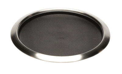 "Service Ideas TR1614RI 16"" Non-Slip Tray w/ Removable Rubber Insert, Stainless"