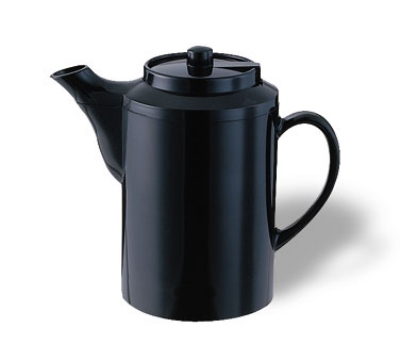 Service Ideas TS612BL 16-oz Dripless Teapot w/ Baffled Spout, Self-Locking Lid, Black