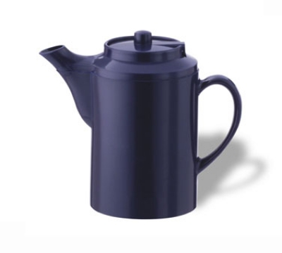 Service Ideas TST612CBT 16-oz Dripless Teapot w/ Tether, Baffled Spout, Cobalt Blue