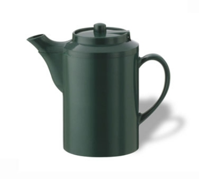 Service Ideas TS612FG 16-oz Dripless Teapot w/ Baffled Spout, Forest Green