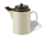 Service Ideas TST612ST/BR 16-oz Dripless Teapot w/ Tether, Baffled Spout, Stoneware & Brown