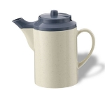 Service Ideas TS612ST/COB 16-oz Dripless Teapot w/ Baffled Spout, Stoneware & Country Blue