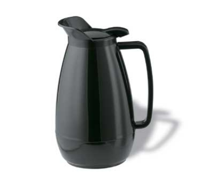 Service Ideas TS501BL .6-liter Coffee Server w/ Flip Top, Smooth Body, Black