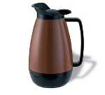 Service Ideas TS101CB 1-liter Coffee Server w/ Flip Top, Smooth Body, Copper & Black